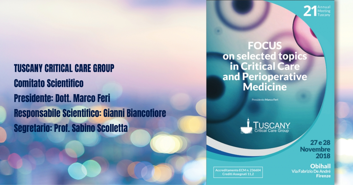 Focus on selected topics in Critical Care and Perioperative Medicine