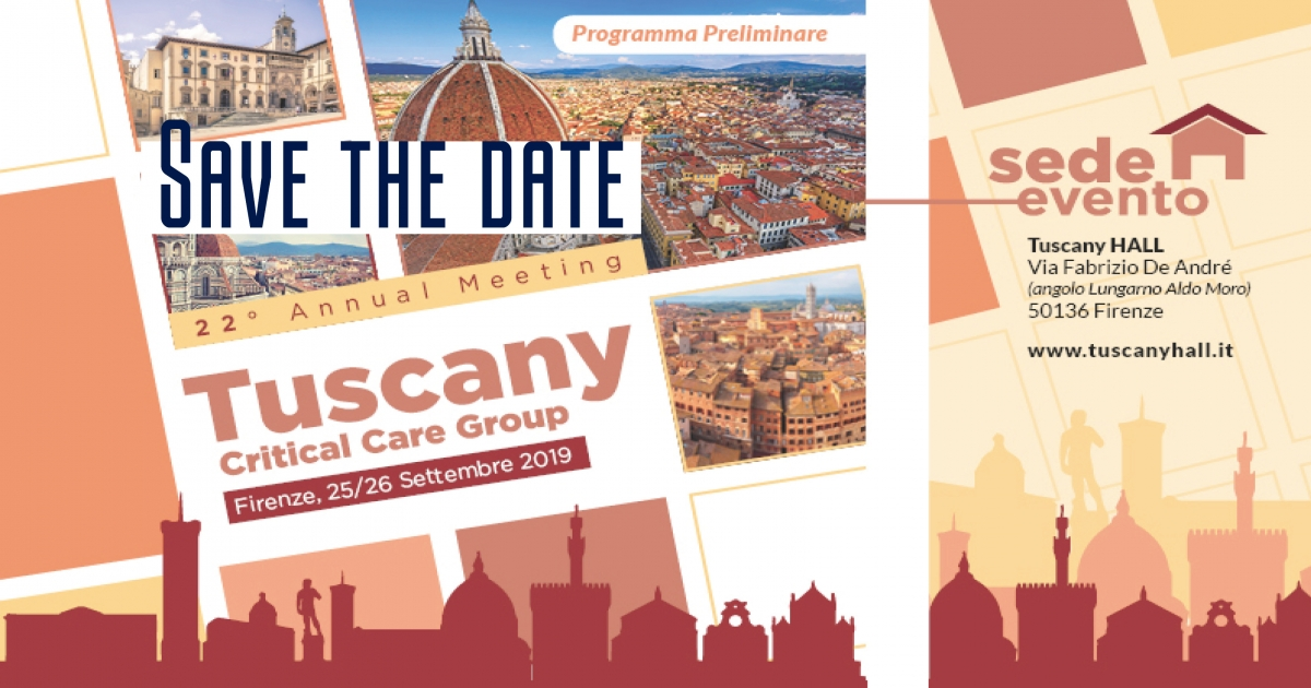 22° Annual Meeting annuale Tuscany Critical Care Group