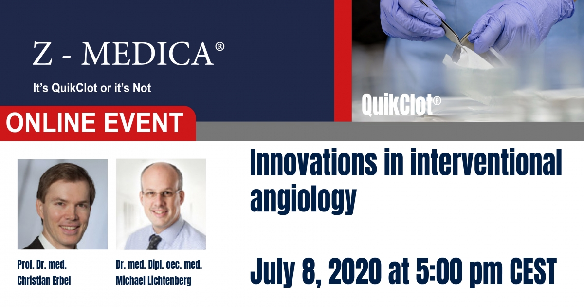 "Webinar: ""INNOVATIONS IN INTERVENTIONAL ANGIOLOGY""."